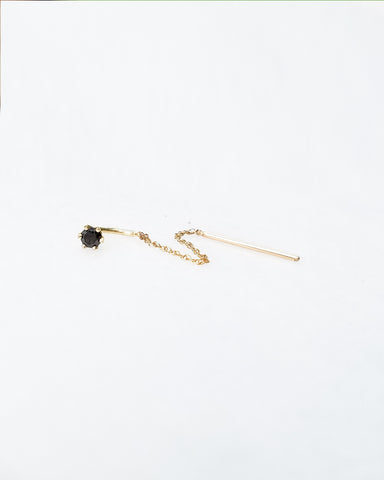 BLANCA MONROS GOMEZ - BLACK DIAMOND STITCH EARRING