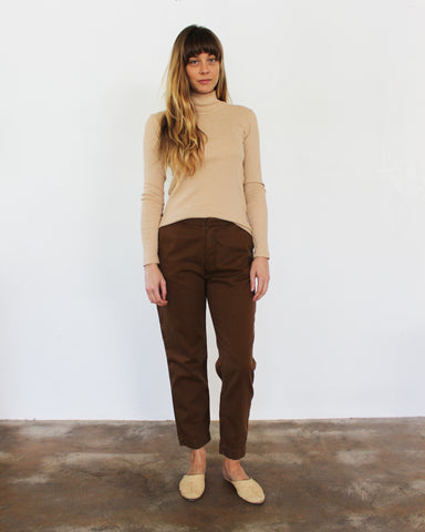 ALI RIB TURTLENECK - CAMEL