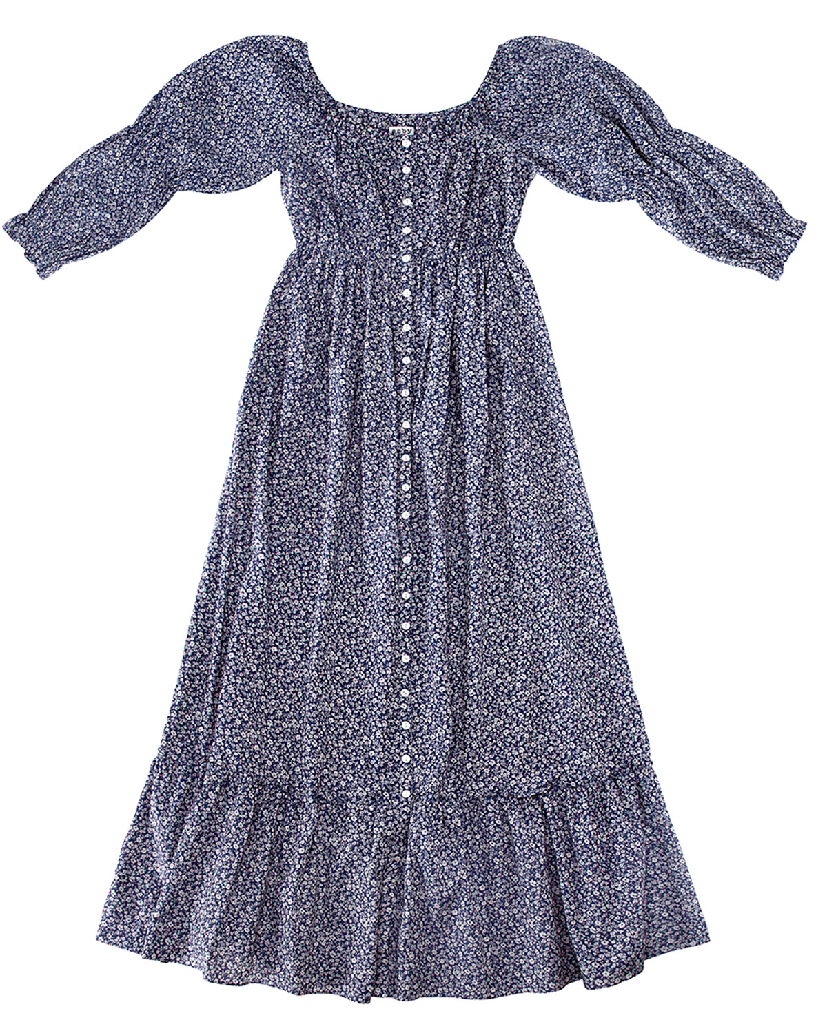 CATERINA DRESS - DENIM FLORAL - PREORDER