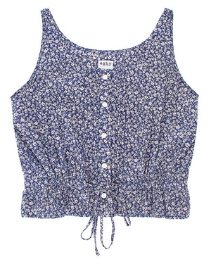 Load image into Gallery viewer, CHIARA TOP - DENIM FLORAL