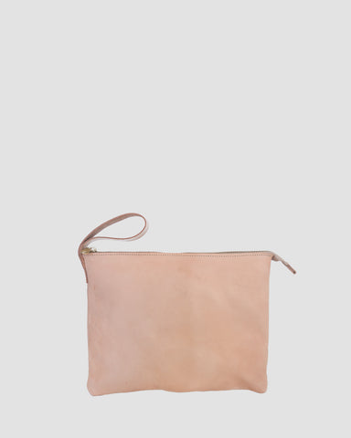 ESBY LEATHER CLUTCH - VEG TAN
