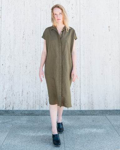 DARBY SHIRT DRESS - OLIVE