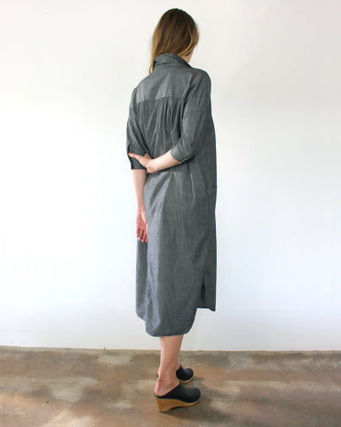 DARCY SHIRT DRESS - CHARCOAL
