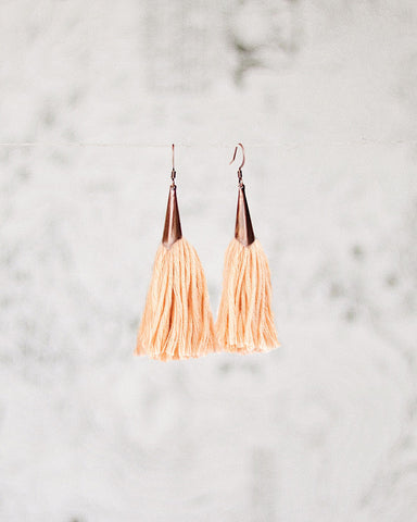 FIBROUS - MAGGIE TASSEL EARRINGS - BLUSH