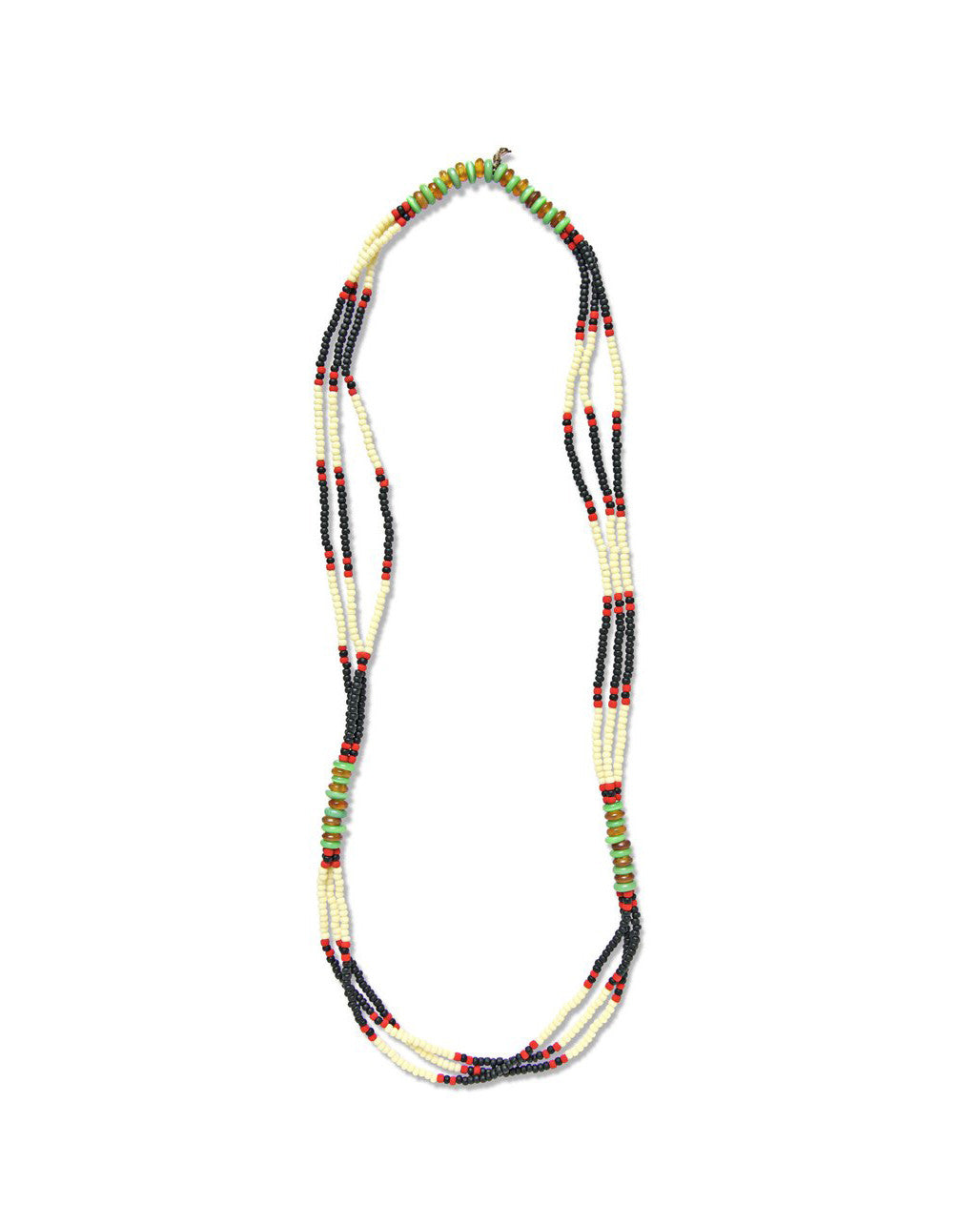 fortune goods vietnam montagnard black and green beaded necklace