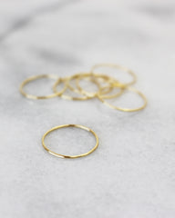 LUCIER - 14K GOLD THREAD RINGS