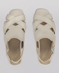 WILDER SHOES - HAZEL SANDAL - BONE VACHETTA