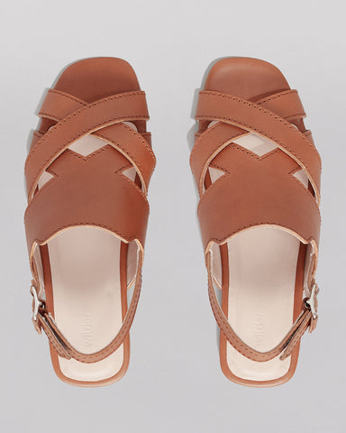 WILDER SHOES - HAZEL SANDAL - TAN VACHETTA