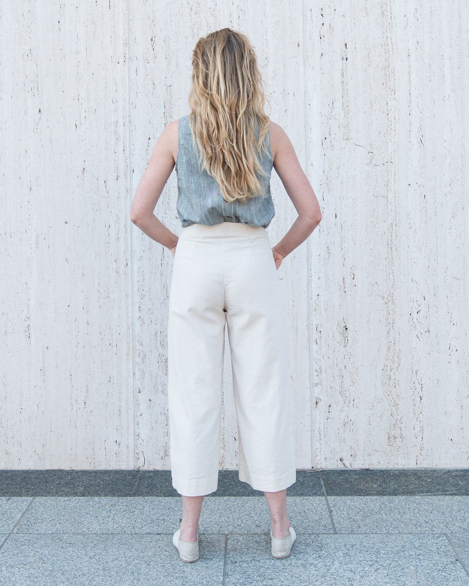 LUCIA SEAMED PANT - NATURAL