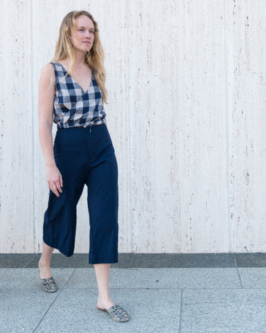 LUCIA SEAMED PANT - NAVY