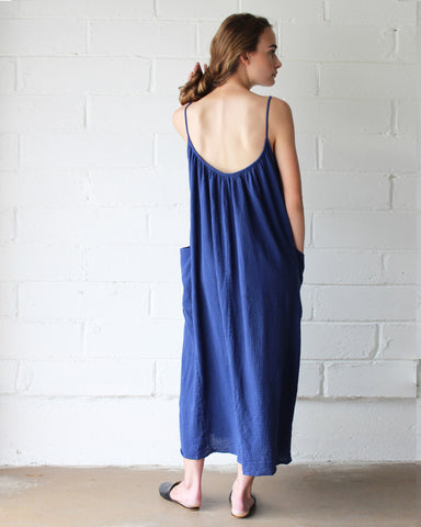 LYLA SLIP DRESS - INDIGO