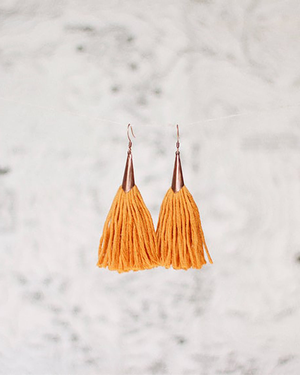 FIBROUS - MAGGIE TASSEL EARRINGS - TURMERIC