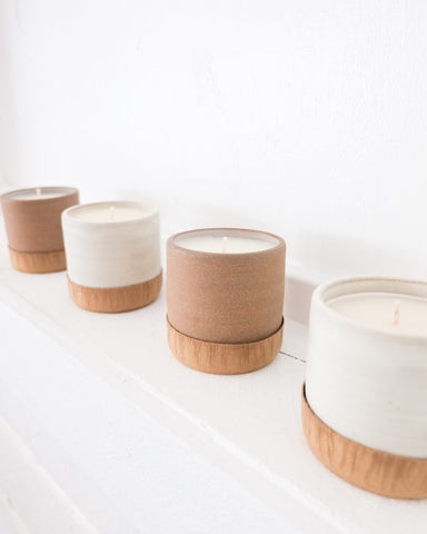 NA NIN - CERAMICS WITH INTENTION CANDLE / GRAPEFRUIT & GINGER