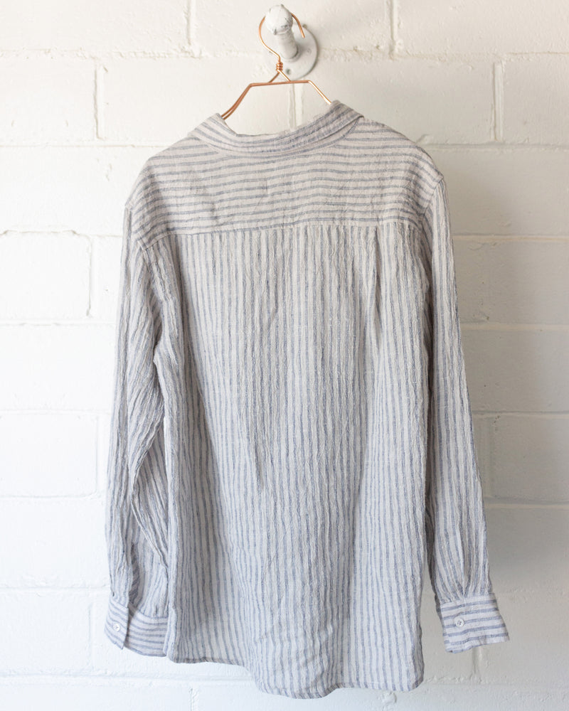 Load image into Gallery viewer, PERCY BUTTON DOWN - ASH STRIPE