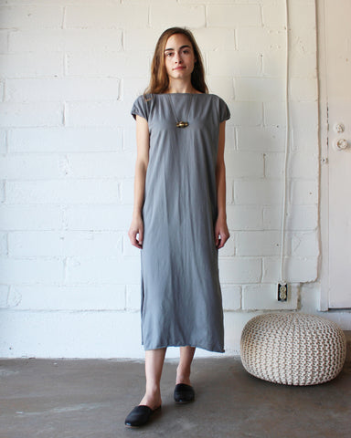 TALLULAH TEE DRESS - PEWTER