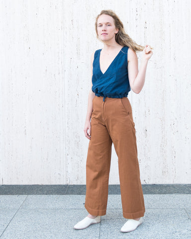 POPPY TOP - INDIGO
