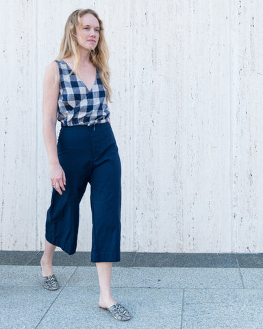 POPPY TOP - PLAID