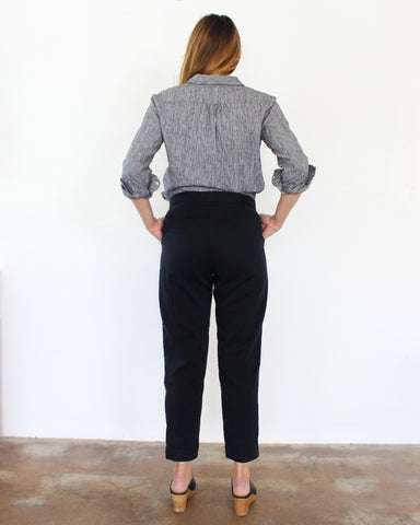 SAM RELAXED PANT - BLACK INK