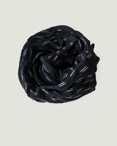 IKAT SMALL SCARF -  BLACK/CREAM