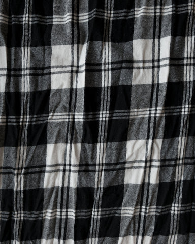 PLAID LARGE SCARF - BLACK/WHITE