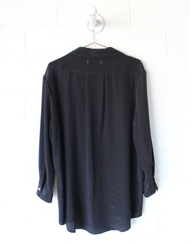 IDA SILK TOP - BLACK