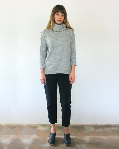 ST. ANN TURTLENECK - HEATHER GREY