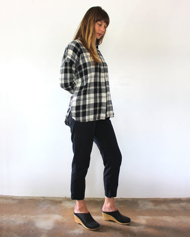 STELLA L/S BUTTON DOWN - PLAID