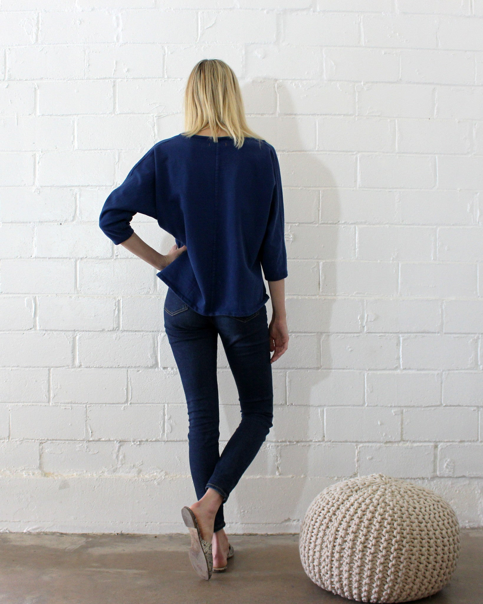 SUNSET SWEATER KNIT - INDIGO
