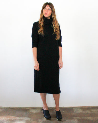 TARA TURTLENECK DRESS - BLACK