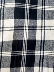black and white plaid cotton scarf
