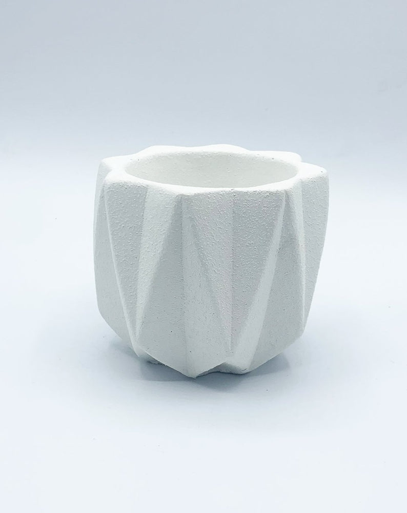 AWKWARD AUNTIE - TEXTURED PLANTER - WHITE