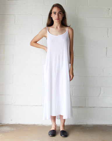 LYLA SLIP DRESS - WHITE