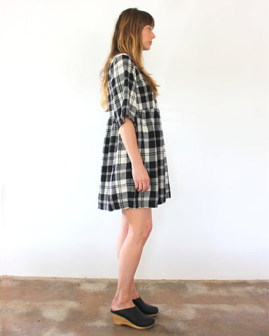 WILLOW BABYDOLL DRESS - PLAID