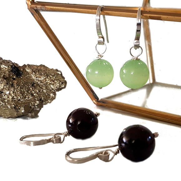 Gem Ball Earrings - Bringing The Elements Together