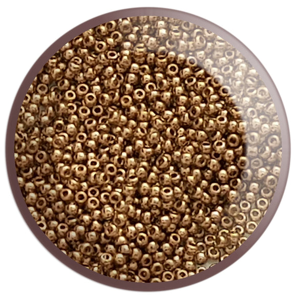 11/0 TR-204 Montana Blue Gold Lustre Round Toho Seed Beads - Beading Supply - Kalitheo Creations