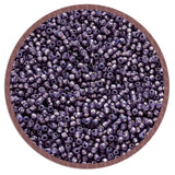 11/0 TR-2124 Milky Lavender Silver Lined Round Toho Seed Beads - Beading Supply - Kalitheo Jewellery