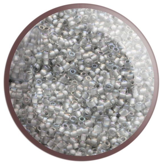 11/0 TR-261 Crystal Rainbow Grey Lined Round Toho Seed Beads - Beading Supply - Kalitheo Creations