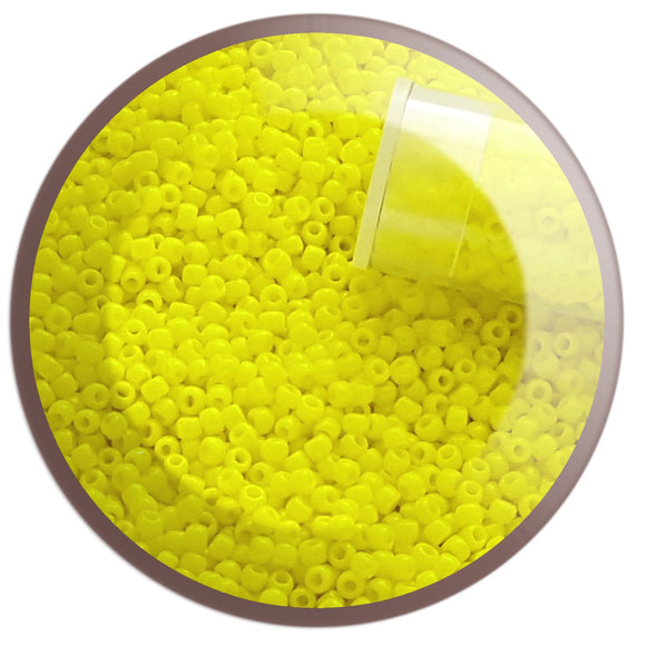 11/0 TR-42 Dandelion Yellow Opaque Round Toho Seed Beads - Beading Supply - Kalitheo Jewellery