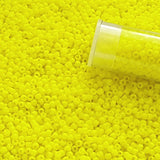 11/0 TR-42 Dandelion Yellow Opaque Round Toho Seed Beads - Beading Supply - Kalitheo Creations
