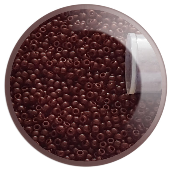 11/0 TR-46 Oxblood Opaque Round Toho Seed Beads - Beading Supply - Kalitheo Creations