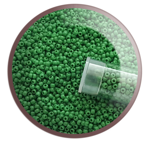 11/0 TR-47D Shamrock Opaque Green Round Toho Seed Beads - Beading Supply - Kalitheo Jewellery