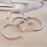 Euro Style Circle Earring Hooks BULk 20pcs Silver 925 | SS-012EH-10 | Jewellery Making Supply - Kalitheo Jewellery