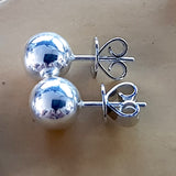 K-372SE Sterling Silver Ball Stud Earrings - Kalitheo Creations