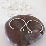 F-FS015/EH Handmade Silver .999 Circle Ear Hook 2 x 2 cm - Jewellery Making Supplies - Kalitheo Creations