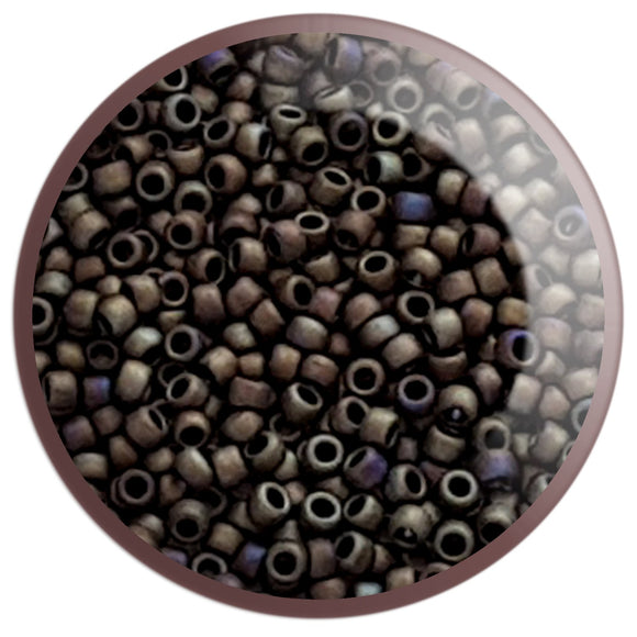 8/0 TR-614 Iris Brown Matte Round Toho Seed Beads - Beading Supply - Kalitheo Creations