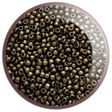 8/0 TR-Y615 Gold Metallic Suede Hybrid Round Toho Seed Beads - Beading Supply - Kalitheo Jewellery