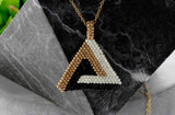 KJ-014 Geometrical Beaded Pendant,  Kalitheo Jewellery,