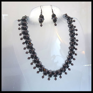 "KTC-267 ""Parisian Nights"" Beaded Necklace - Kalitheo Creations"