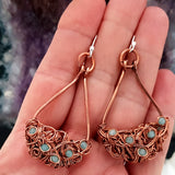 Teardrop Tangled - Copper Jewellery Collection - Copper Wire Wrapped | (KJ-403E) Handmade Earrings - Kalitheo Jewellery