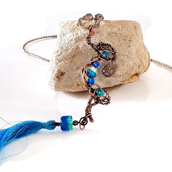 Artisan Boho-Chic Long Necklace | KJ-404N | Artisan Necklace - Kalitheo Jewellery
